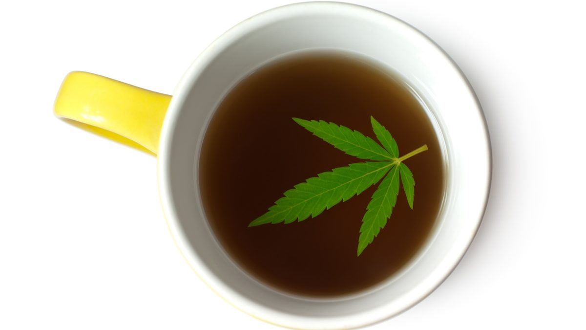 Yellow Mug of Marijuana Infused Tea